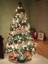 marvelous ideas tree garland burlap topper bow with
