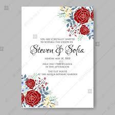 wedding invitation sle bordeaux maroon roses for wedding invitations vector printable