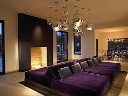Home Theatre Decorations by Refined Basement Bar And Home Theater With Dark Ambiance Design