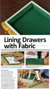 lining drawers with fabric drawer construction and techniques