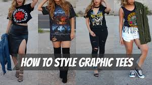 how to style graphic tee s diy how to distress a tee shirt youtube