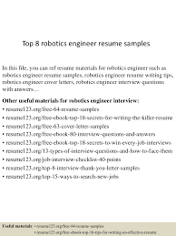 resume template engineer top8roboticsengineerresumesamples 150512081525 lva1 app6892 thumbnail 4 jpg cb 1431418570