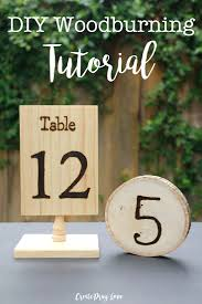 table numbers for wedding make rustic wedding table numbers with this woodburning tutorial