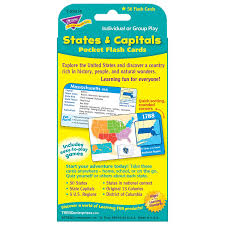 United States Map With State Names And Capitals by Amazon Com States U0026 Capitals Pocket Flash Cards Toys U0026 Games