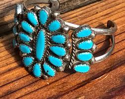 vintage turquoise bracelet images Zuni bracelet etsy jpg