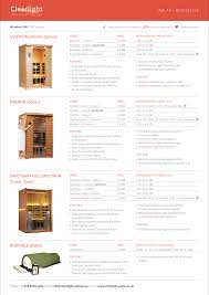current price list clearlight infrared saunas