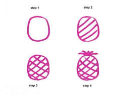 how to draw pineapple hellokids com