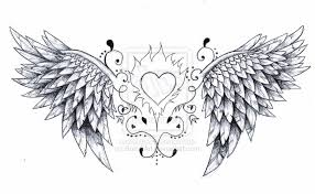 cross and angel wings tattoos on lower back real photo pictures