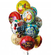 get well soon and balloons get well balloon bouquet 12 mylar balloons make their day
