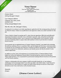 Examples Of Nurses Resumes by Student Cover Letter Example Nursing Nursing Resume Cover Letter