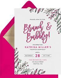 invitations for brunch brunch bubbly invitations greenvelope