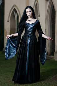 philomena silver taffeta gothic medieval dress ladies