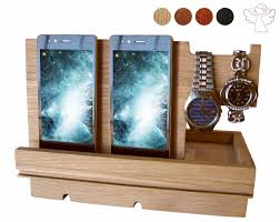 docking station phone stand wood phone dock apple watch stand