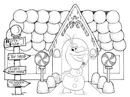 frozen christmas coloring pages