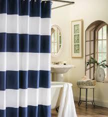 Nautical Shower Curtains Max Studio 100 Cotton Shower Curtain Wide Stripes