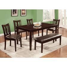 espresso dining room set furniture of america 6 espresso dining set with