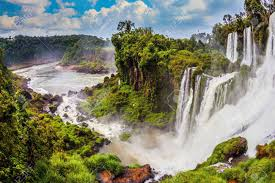 famous waterfalls in the world the concept of active and exotic tourism the most famous