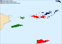 Puerto Rico On A Map by Virgin Islands Wikipedia