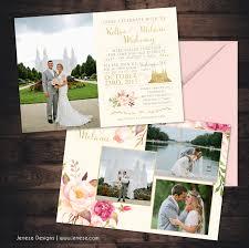 Lds Wedding Invitations Blush Pink Jeneze Designs