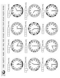 9 best images of la hora worksheets spanish telling time