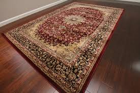 Burgundy Area Rugs Amazon Com Feraghan New City Traditional Isfahan Wool Persian