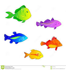 coloured fishes royalty free stock images image 20153769