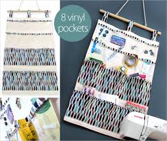 hanging 14 pocket wall caddy for sewing u0026 more sew4home