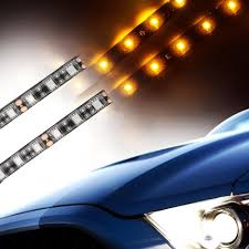 led strip lights for motorcycles dc 12v 2pcs 6 led strip light for motorcycle flexible light smd