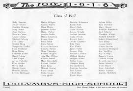 hobbs high school yearbook columbus high school chs 1916 yearbook log class of 1917