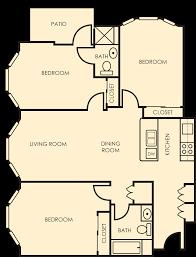 3 bedroom unit floor plans hillside village floor plans