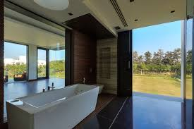 Wall Covering Panels by Small Modern Bathroom Design With Laminate Wood Wall Covering