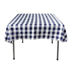 checkered tablecloth blue u0026 white square shaped cover