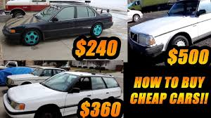 how to buy cars dirt cheap