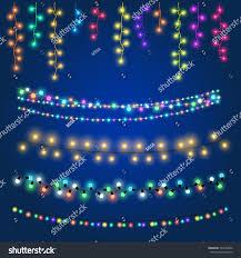 Garland Fairy Lights by Christmas Fairy Hanging Lights Vector Illustration Stock Vector