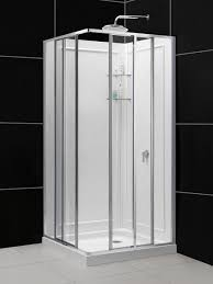 bathroom design modern curved shower stall kits with silver frame