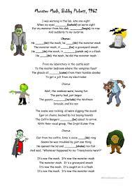monster mash worksheet free esl printable worksheets made by