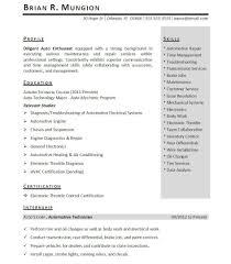 internship experience on resume example welder objective intern