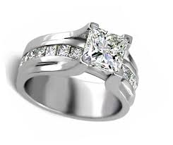 wide band engagement rings wide band princess cut engagement ring products engagement rings
