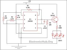 led lamp dimmer project circuit diagram and working led lamp