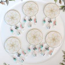 Edible Halloween Cake Decorations by Edible Dreamcatcher Feathers X20 Boho Sweet Dream Catcher