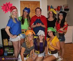 Snow White Halloween Costume Women Snow White Dwarfs Group Costume Snow White