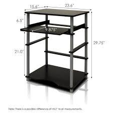 Desk Measurements by Furinno 10016 Home Laptop Notebook Computer Desk Walmart Com