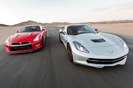 nissan gtr vs corvette z06 2014 chevy corvette stingray vs 2014 nissan gt r track tested