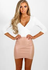 mini skirt league of your own pink faux leather mini skirt pink boutique