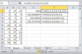 best excel tutorial how to calculate variance in excel