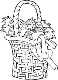 easter basket with eggs coloring page rabbit happy paint easter eggs coloring picture for kids easter