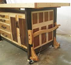 new woodshop workbench with mobility package by woodshopjoe