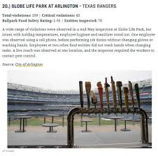 lexus texas rangers tickets si ranks food safety at globe life park in texas below par fort