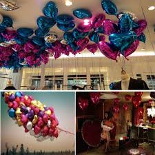 birthday helium balloons 5pcs heart foil helium balloons wedding party birthday