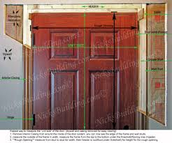 how to frame a door opening amusing rough opening 28 prehung door images best inspiration